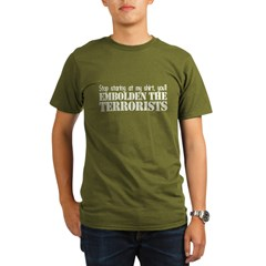 Embolden the Terrorists Organic Men's T-Shirt (dark)
