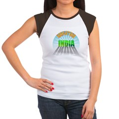Karnataka India Women's Cap Sleeve T-Shirt