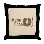 Music Snob Throw Pillow