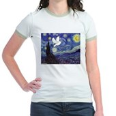 Starry Dove Jr. Ringer T-Shirt