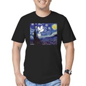 Starry Dove Men's Fitted T-Shirt (dark)