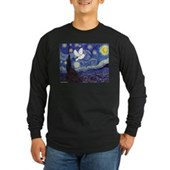 Starry Dove Long Sleeve Dark T-Shirt