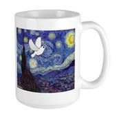 Starry Dove Large Mug