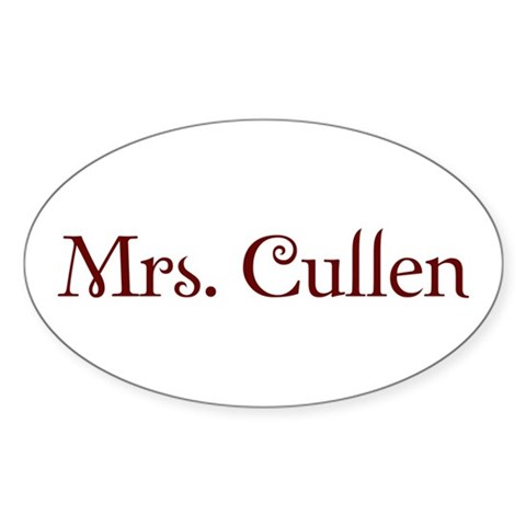 Mrs. Cullen Oval Sticker