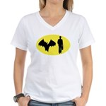 Bat Man Women's V-Neck T-Shirt
