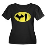 Bat Man Women's Plus Size Scoop Neck Dark T-Shirt