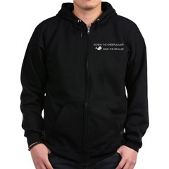 Screw the Cheerleader - Save the Whales Zip Hoodie (dark)