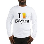 I Love Belgium (Beer) Long Sleeve T-Shirt