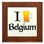 I Love Belgium (Beer) Framed Tile