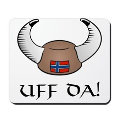 Uff Da! Viking Hat (color) Mousepad