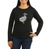Birdorable Dodo Women's Long Sleeve Dark T-Shirt