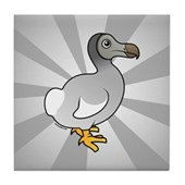 Birdorable Dodo Tile Coaster