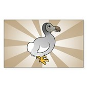 Birdorable Dodo Rectangle Sticker