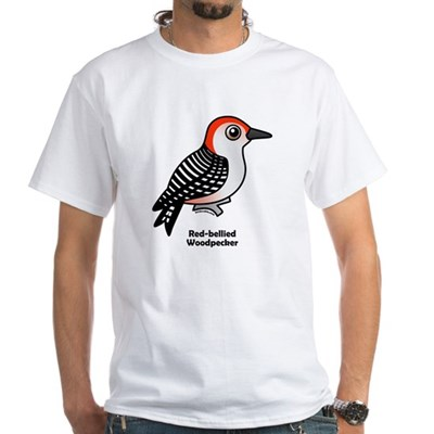 Red-bellied Woodpecker White T-Shirt
