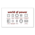 World of Power Sticker (Rectangle)