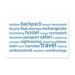 Travel Tag Cloud Mini Poster Print