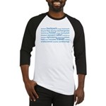 Travel Tag Cloud Baseball Jersey