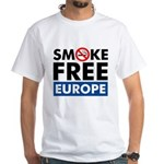 Smoke Free Europe White T-Shirt