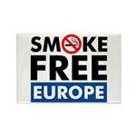 Smoke Free Europe Rectangle Magnet