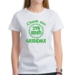 25% Irish - Thank You Grandma Women's T-Shirt