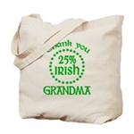 25% Irish - Grandma Tote Bag
