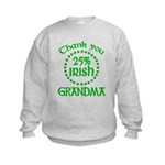 25% Irish - Thank You Grandma Kids Sweatshirt