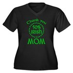50% Irish - Thank You Mom Women's Plus Size V-Neck Dark T-Shirt