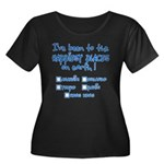 Happiest Places on Earth Women's Plus Size Scoop Neck Dark T-Shirt