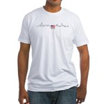 American Flag Chicago Skyline Fitted T-Shirt