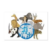 A great design to show your support of all wildlife - they were here first, after all. A group of beautiful wild animals arranged around Planet Earth. A pro-wildlife design for Earth Day & every day!
