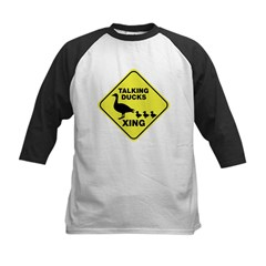 Talking Ducks Crossing Kids Baseball Jersey