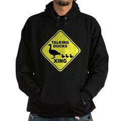 Talking Ducks Crossing Hoodie (dark)