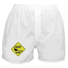 Talking Ducks Crossing Boxer Shorts