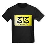 313 License Plate Kids Dark T-Shirt