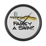 Fancy a Swim? Large Wall Clock
