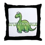 Stuffosaurus Logo Throw Pillow