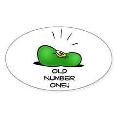 Old Number One! Sticker (Oval)
