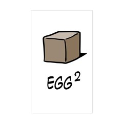 Square Egg Sticker (Rectangle)
