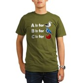 B is for Birdorable Organic Men's T-Shirt (dark)