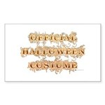 Official Halloween Costume Rectangle Sticker 50 p