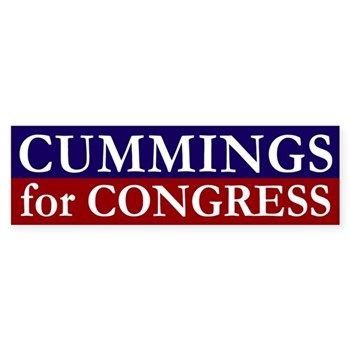 Re-Elect Elijah Cummings for Congress bumper sticker
