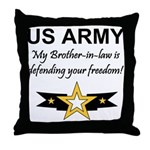 Army Brother-in-law Defending Throw Pillow