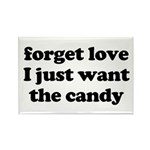Love vs Candy Rectangle Magnet