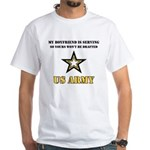 Army Boyfriend Serving White T-Shirt