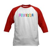 Colorful Retro Liberal Kids Baseball Jersey