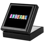 Colorful Retro Liberal Keepsake Box