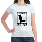 Content Rated Liberal Jr. Ringer T-Shirt
