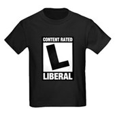 Content Rated Liberal Kids Dark T-Shirt