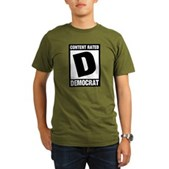 Content Rated Democrat Organic Men's T-Shirt (dark