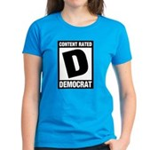 Content Rated Democrat Women's Dark T-Shirt